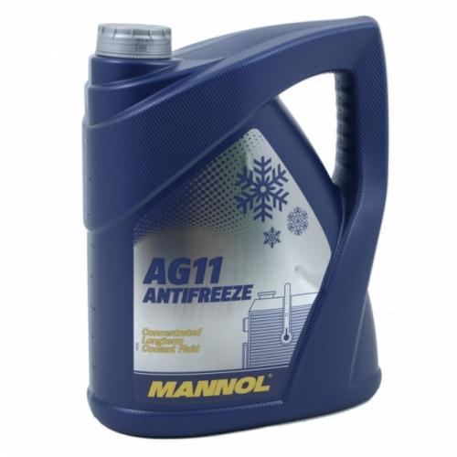 Антифриз Mannol  Antifreeze AG 11 Longterm -40 ГОТОВЫЙ синий 5л/5,4кг(4)