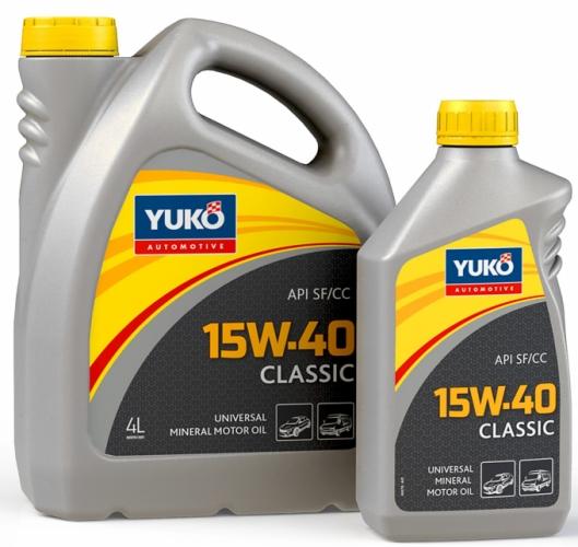 Yuko Моторное масло YUKO Classic 15w40 4л SF/CC Украина