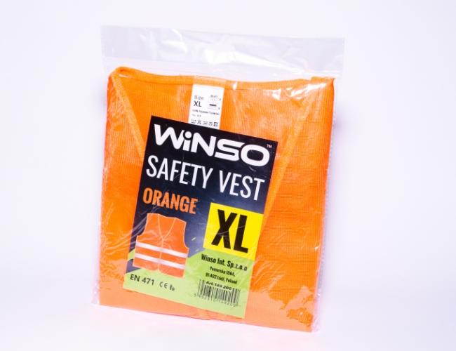 Жилет сигнальный WINSO оранжевый., размер XL