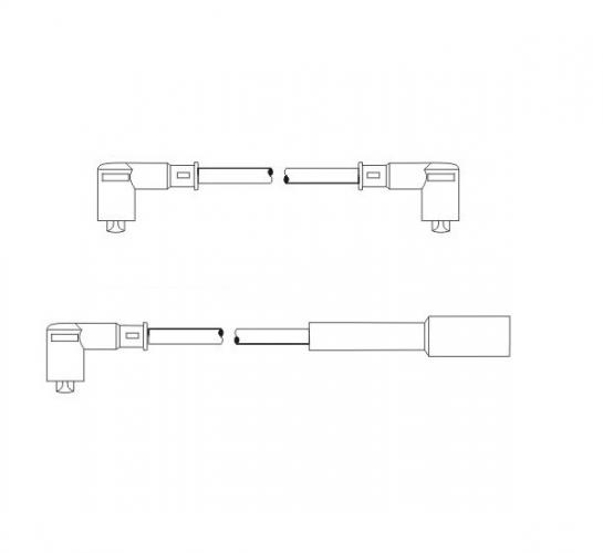 SCT Проводу PS 608 (2108 карбюратор)