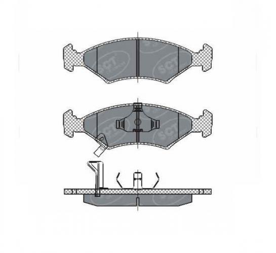 SCT Колодки SP 266