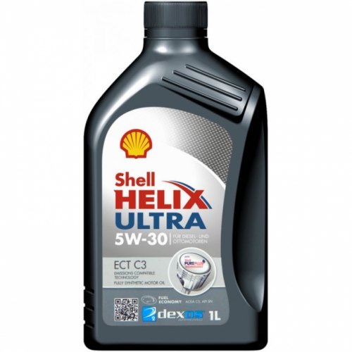 Shell Моторне масло Shell Helix Ultra ECT C3 5w30 1л A3/B4, C3 1 л