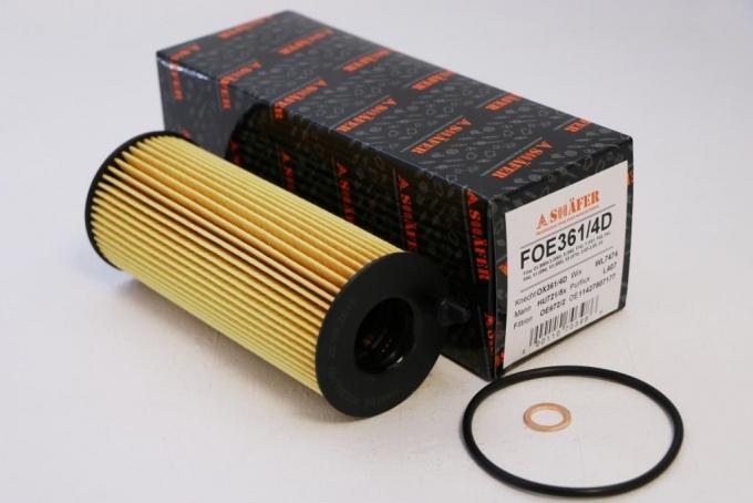 Фильтр масляный SHAFER  FOE361/4D  BMW 3 (E90), 5 (E60, F10), 7 (F01, F02, F03, F04), X1 (E84), X3 (E83), X5 (E70), 2.0D-3.0D, 03-