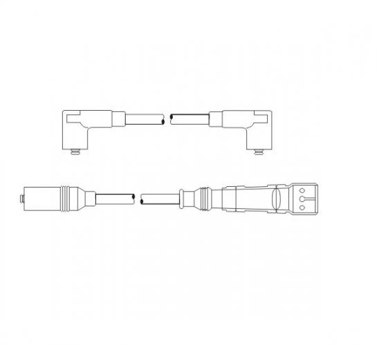 SCT Проводу PS 6561 Golf II 83-91 , Jetta II 83-91 , Passat 80-89 , 88-97 TranspT4 90-92
