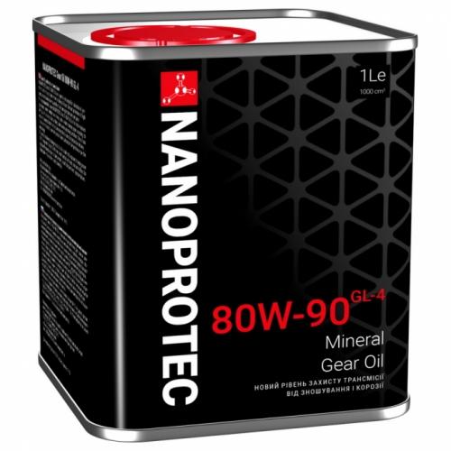 Трансмиссионное масло Nanoprotec Gear Oil  80w90 1л GL-4