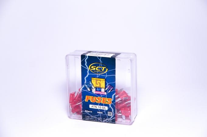 SCT Предохранители  9506 ATN 10A евро маленькие(комплект 50 шт.)