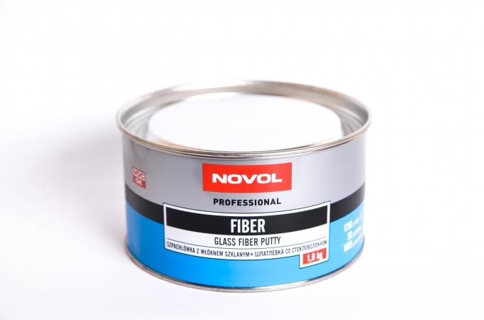 Шпатлівка Novol Fiber скловолокно 1,8 кг синя