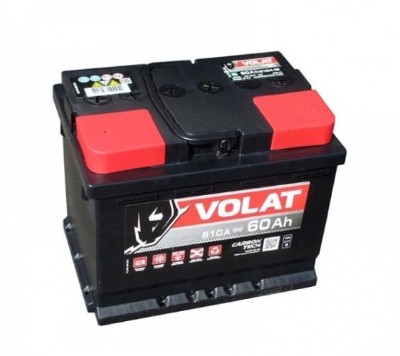 Аккумулятор VOLAT - 60A +правый (L2) (610 пуск)