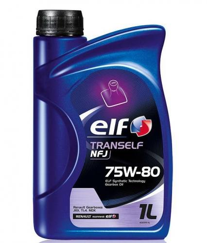 Трансмиссионное  масло Elf Tranself NFJ 75w 80 1л