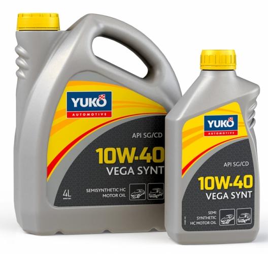 Yuko Моторне масло YUKO Vega Synt 10w40 4л SG/CD Україна