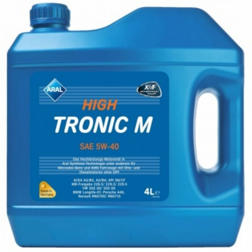 Моторное масло ARAL HighTronic M 5w40 4л