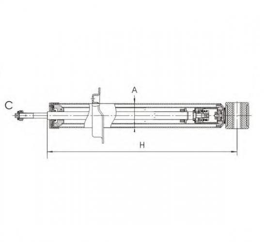 SCT Амортизатор задній Z 2873