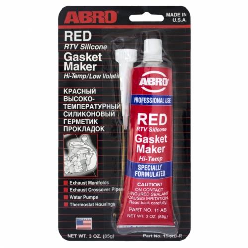 Герметик силиконовый красный Abro 85г