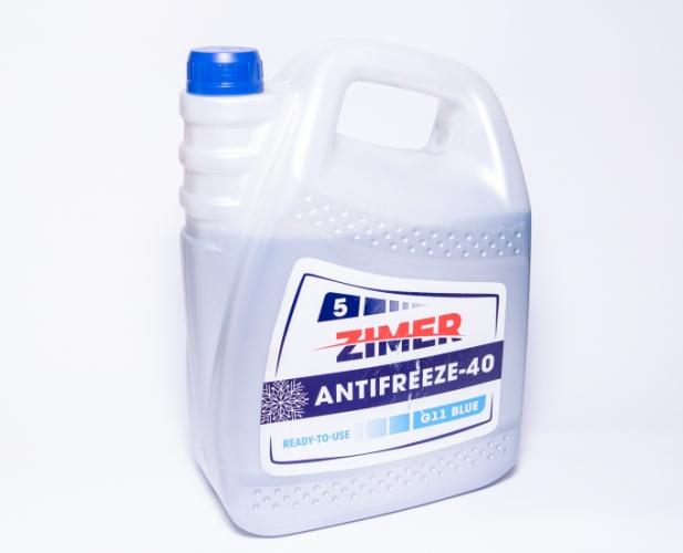 Охлаждающая жидкость Антифриз ZIMER -40 (синий) 5л.