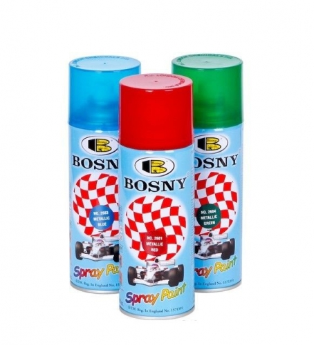 Краска-аэрозоль Bosny №2601 красный металлик 0,4л