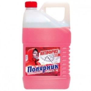 Антифриз Полярник (-40) красный 10 кг в п/э кан.