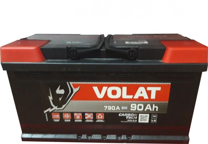Аккумулятор VOLAT - 90A +правый (L5) (790 пуск)