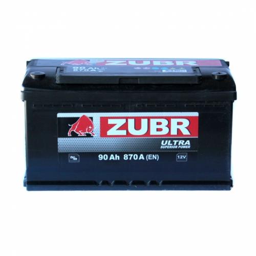 Аккумулятор ZUBR Ultra - 90A +правый (870 пуск)