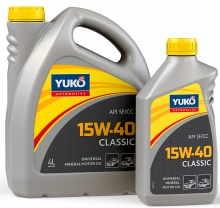 Yuko Моторне масло YUKO Classic 15w40 4л SF/CC Україна