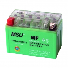 Аккумулятор МОТО гелевый MSU&OUTDO 12 V 9A салатовый