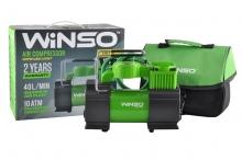 Компрессор автомобильный WINSO 10 Атм, 40 л/мин. 200Вт.,кабель 3м.,шланг 5,7м.,спускной клапан