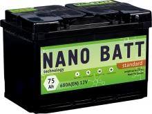 Аккумулятор NANO BATT  Standart - 75 +правый (680 пуск)2020!!!