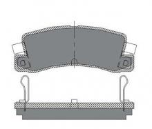 Гальмівні колодки SCT SP 106