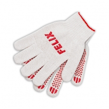 Перчатки хлопковые Felix белые с пвх-покрытием