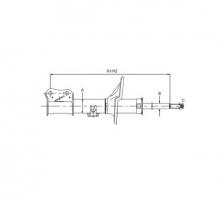 SCT Амортизатор передній Z 3112 L DEAWOO/CHEVROLET Aveo