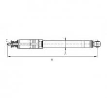 SCT Амортизатор  Z 1829 Lanos задний