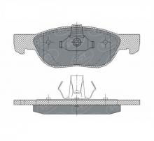 SCT Колодки SP 296