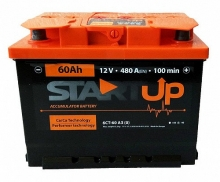 Аккумулятор StartUp -60 +правый (0) 480 пуск