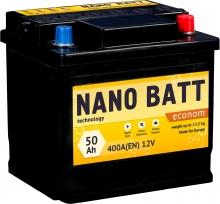 Аккумулятор NANO BATT  Econom - 50 +левый (400 пуск)2020!!!